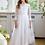 Thumbnail: Kleid lang weiß Blume (1/SM/20)
