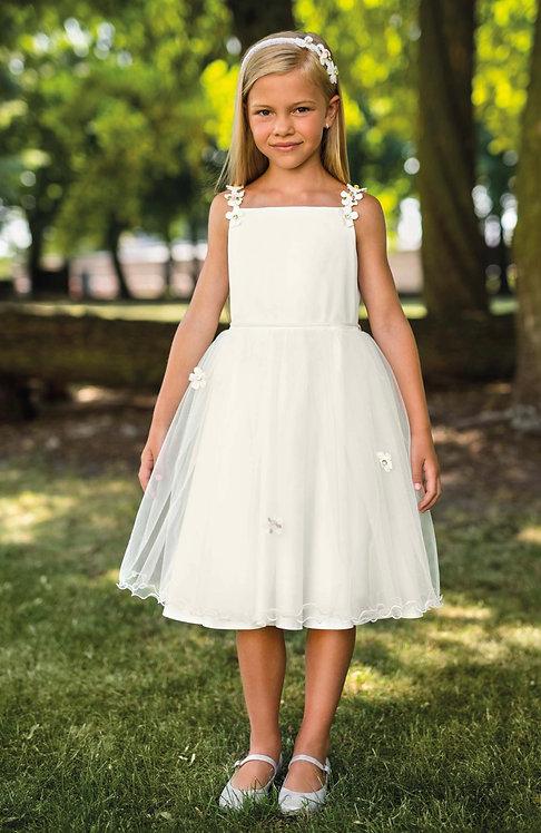 Kleid beige-weiß Rosen (21/SM/20)