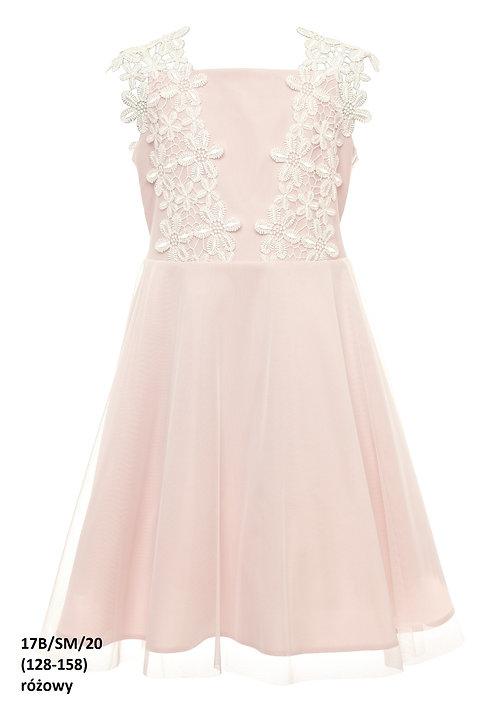 Kleid rosa Blumen (17B/SM/20)