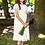 Thumbnail: Kleid beige-weiß (9b/SM/20)