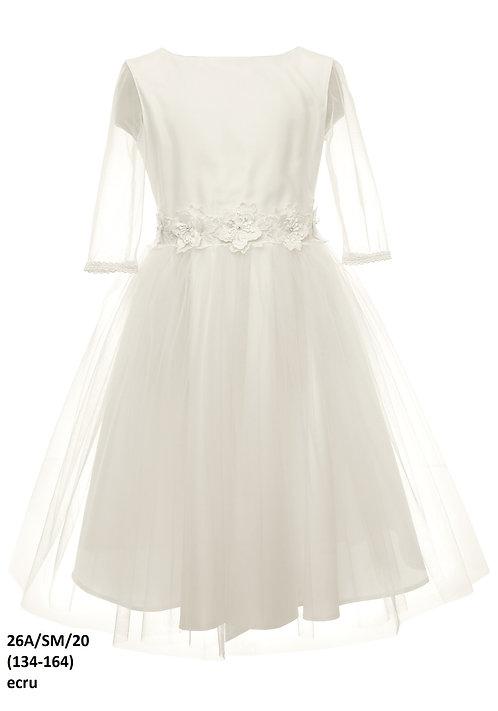 Kleid beige-weiß (26a/SM/20)