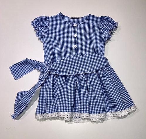 Kleid blau kariert