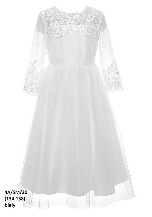 Kleid weiß Blumen (4a/SM/20)