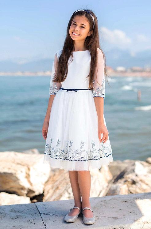 Kleid weiß Blumen
