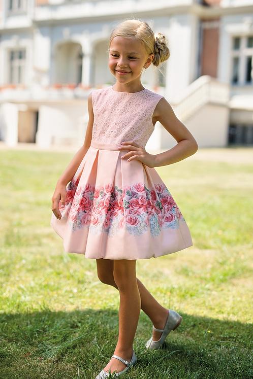 Kleid rosa mit Rosen (15b/SM/20)