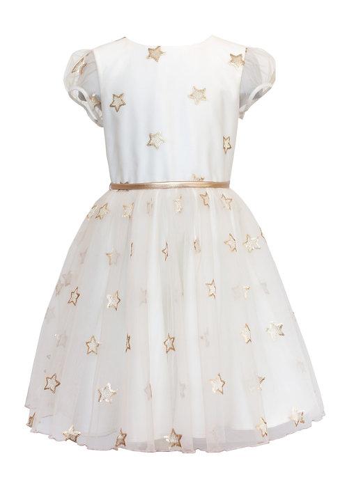 Kleid mit Sternen in Gold