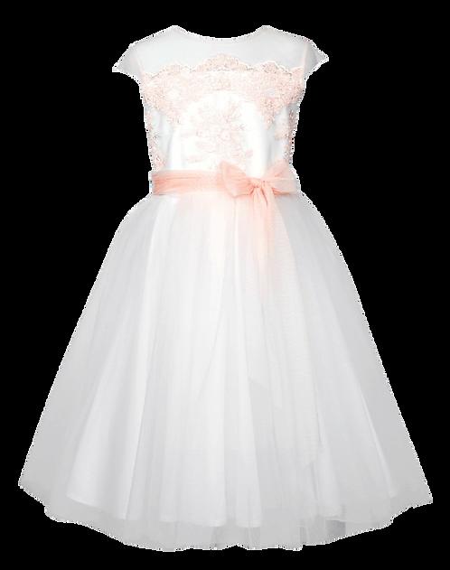 Kleid weiß/altrosa