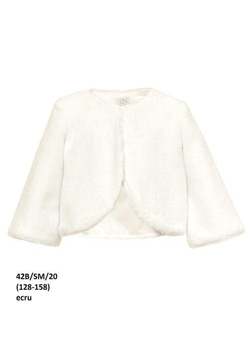 Bolero beige-weiß Kunstfell (42b/SM/20)