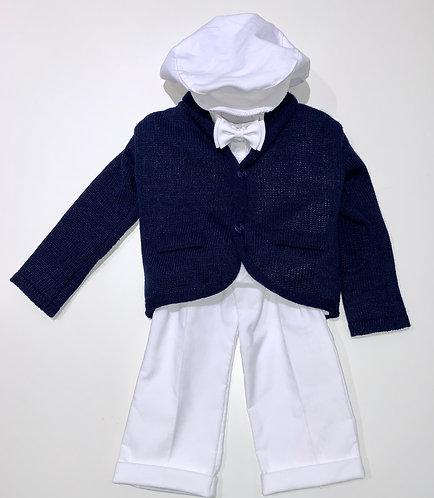 Anzug dunkelblau/weiß