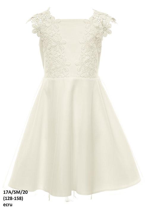 Kleid beige-weiß (17a/SM/20)