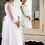 Thumbnail: Kleid weiß langarm Blumen (2A/SM/20)