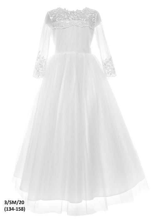 Kleid weiß Blumen (3/SM/20)