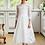 Thumbnail: Kleid beige-weiß langarm Blumen (2b/SM/20)