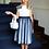 Thumbnail: Kleid blau-weiß (19/SM/20)