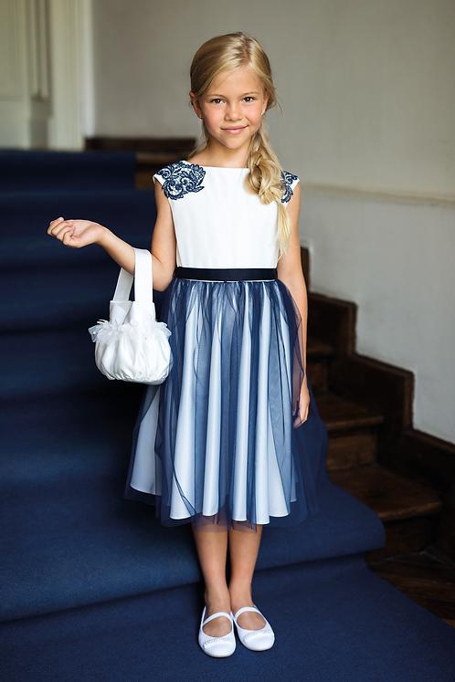 Kleid blau-weiß (19/SM/20)