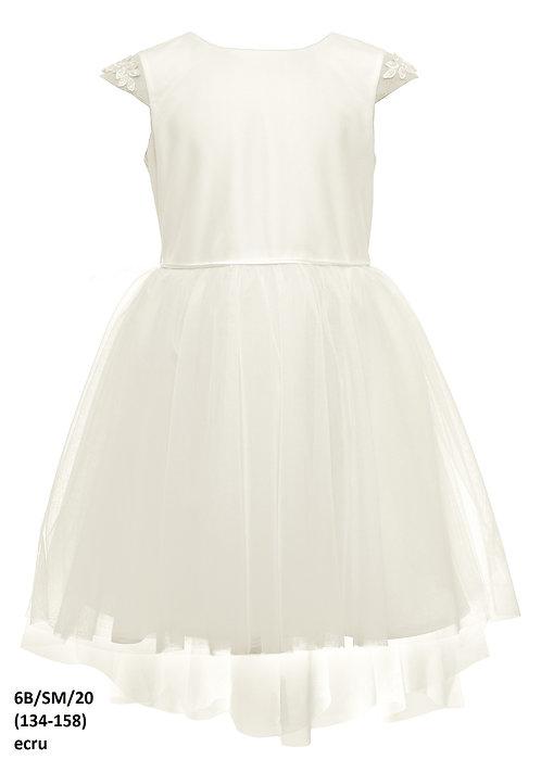 Kleid beige-weiß (6b/SM/20)