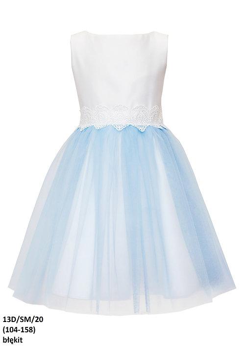 Kleid blau-weiß (13d/SM/20)