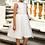 Thumbnail: Kleid beige-weiß (7b/SM/20)