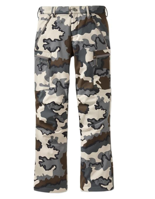 When the weather turns and snow starts to fall, more heat retention is needed to keep you in the field. This soft shell outer layer pant is constructed with a 4-way stretch Primeflex face fabric bonded to a micro-fleece backer. Zippered pockets securely store small accessible items, while a DWR coating protects you from daily moisture.
