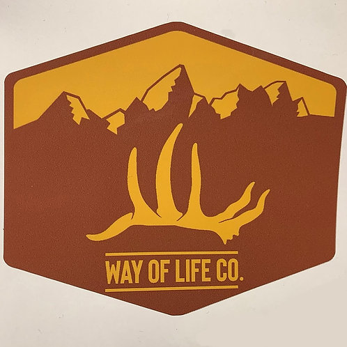 Brown and gold Way Of Life decal