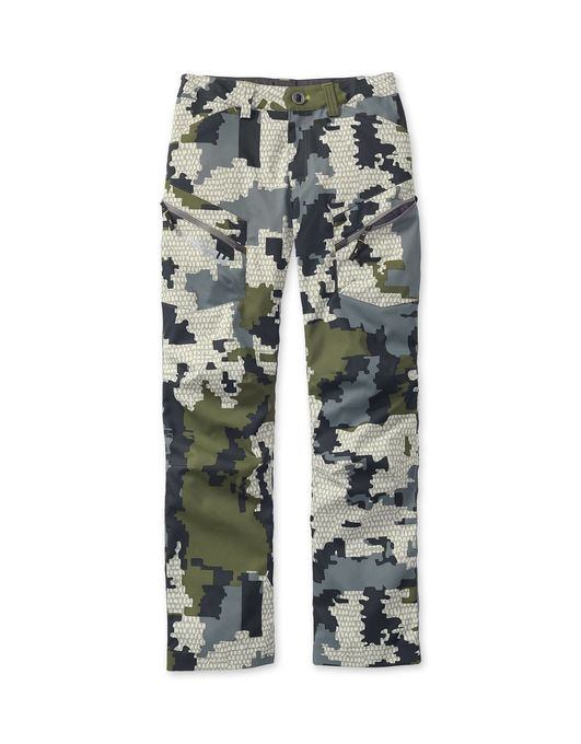 The KUIU youth line brings technical fabrics, build, and performance to the next generation of hunters. The Sierra is a streamlined, stretch woven twill pant with a gusseted, articulated fit for uninhibited range of motion. The Sierra Pant offers the technical capabilities needed for the wide-range of hunting and outdoor activities. Made with Toray fabric, and an innovative streamlined design, this pant provides optimum comfort, flexibility, and breathability.