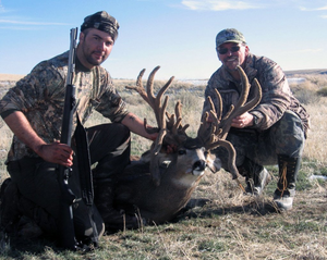 The current #1 SCI non-typical Rocky Mountain Mule Deer was hunted by Steven P. Smith with a rifle near Alton, Utah in September of 2001. 34 points. Main beams measured over 25″ & 24″. 20 5/8″ inside spread. buck scored 317 4/8
