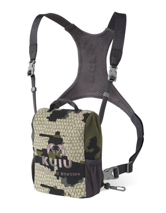 Protect your binoculars from abuse while keeping them comfortably secured to your chest. One handed operation allows quick and easy access, while a sturdy fleece-lined pouch keeps binoculars clean and debris free. A customer favorite and a KUIU best seller.