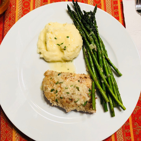 Panko Crusted Whitefish with Beurre Blanc