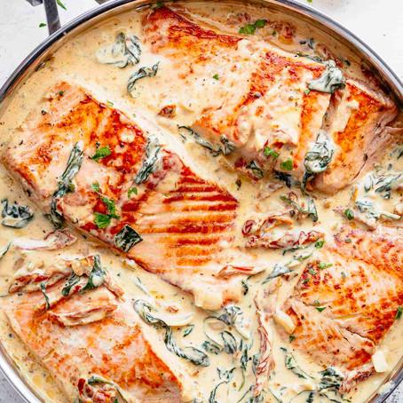 Creamy Garlic Tuscan Salmon