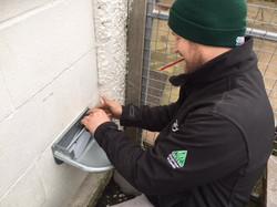 Installation of animal water feeder