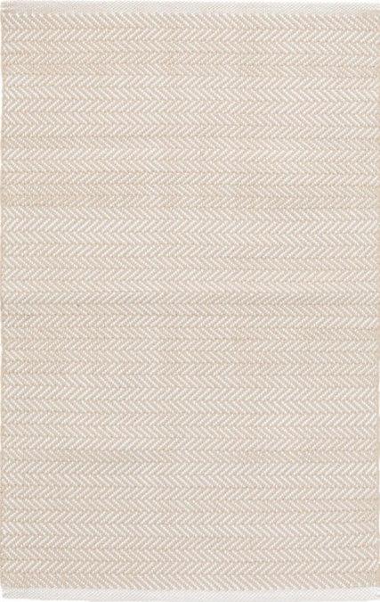 Linen and Ivory Herringbone Rug