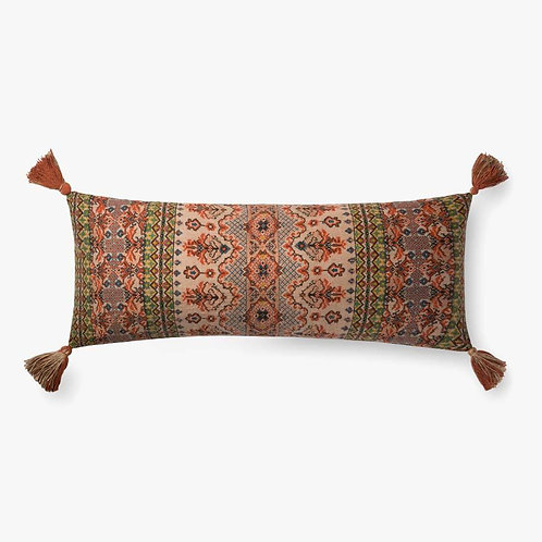 Rust Multi Tassel Pillow