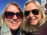Med teatrets scenograf Kristin Bengtson