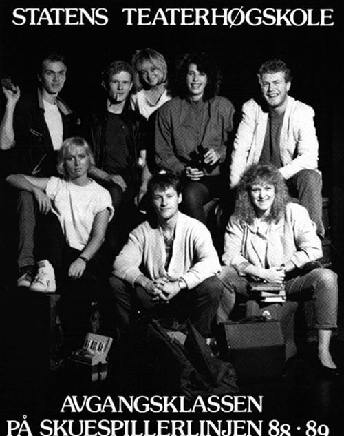 Avgangsklassen på skuespillerlinjen 1989