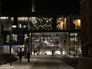Hamar kulturhus i vinterskrud
