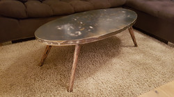 Table basse ellipse