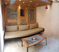 Table basse + Banquette + Habilliage mur