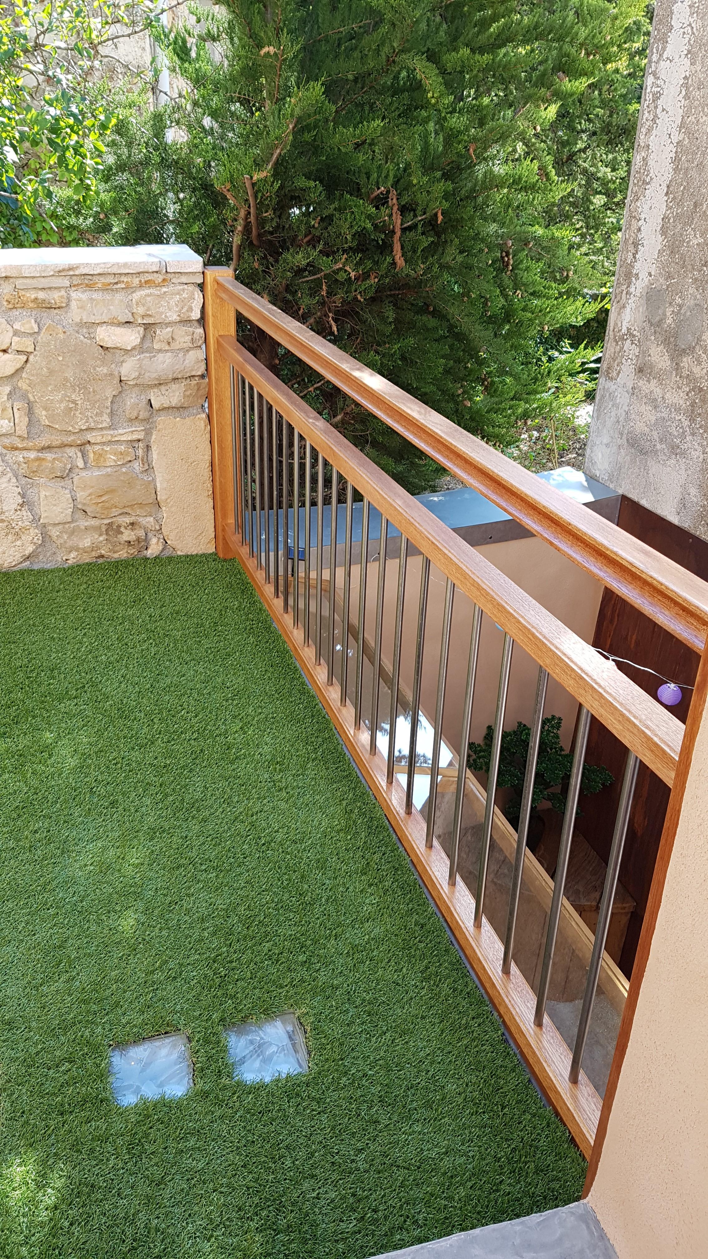 Balustrade balcon - Bois et Fer