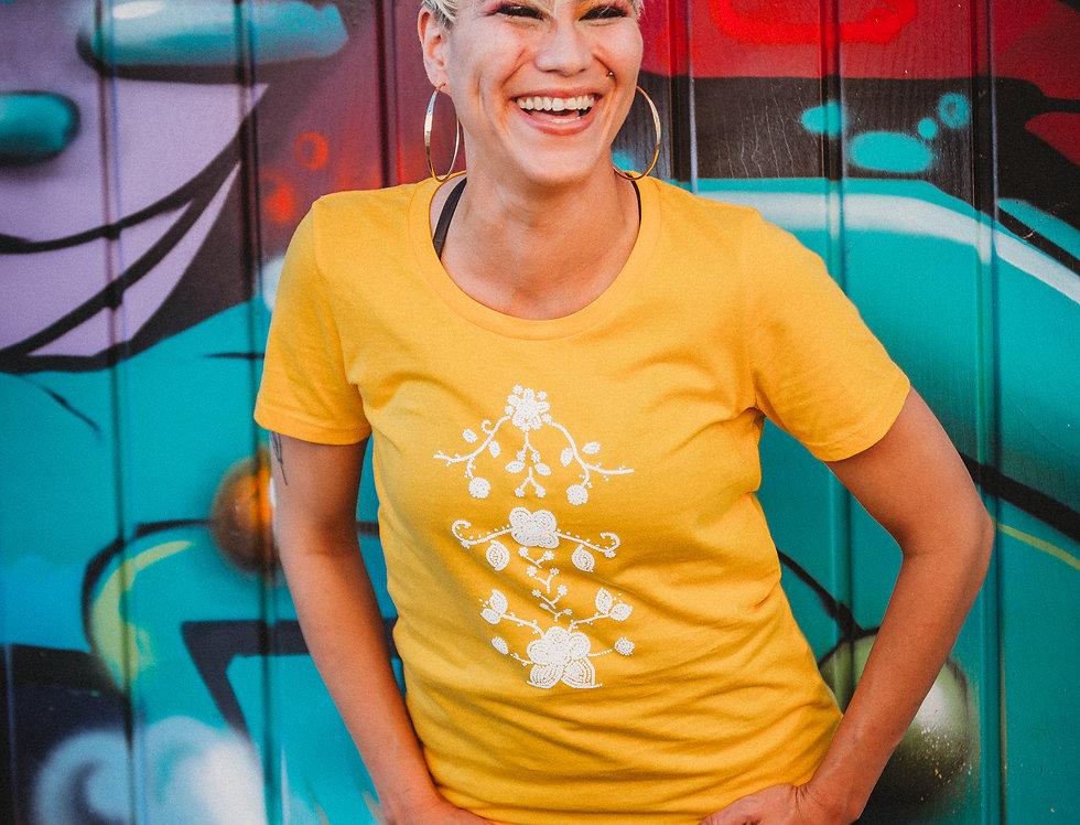 Beadwork printed Tshirt