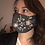 Thumbnail: Designer Mask Beadwork print in charcoal grey