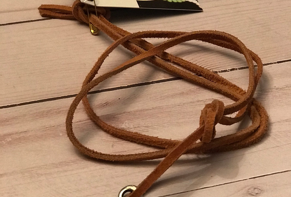 Infinity Leather Necklace