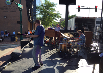 Organ Trio playing the main stage at the Elkhart Jazz Festival
