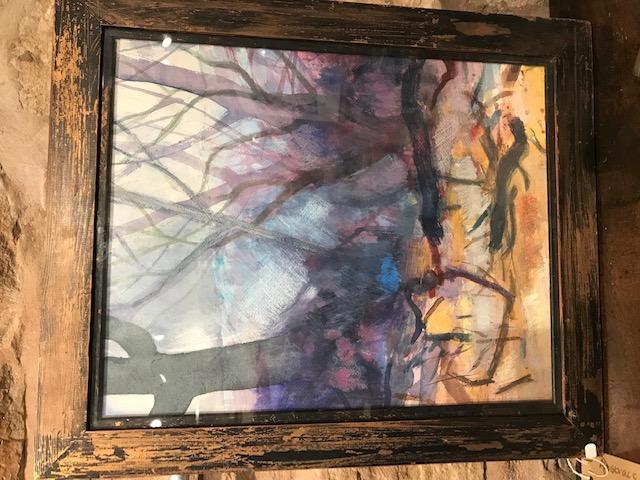 Abstract watercolour by Carol Ann McDerm