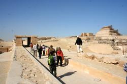 Entering Saqqara Complex