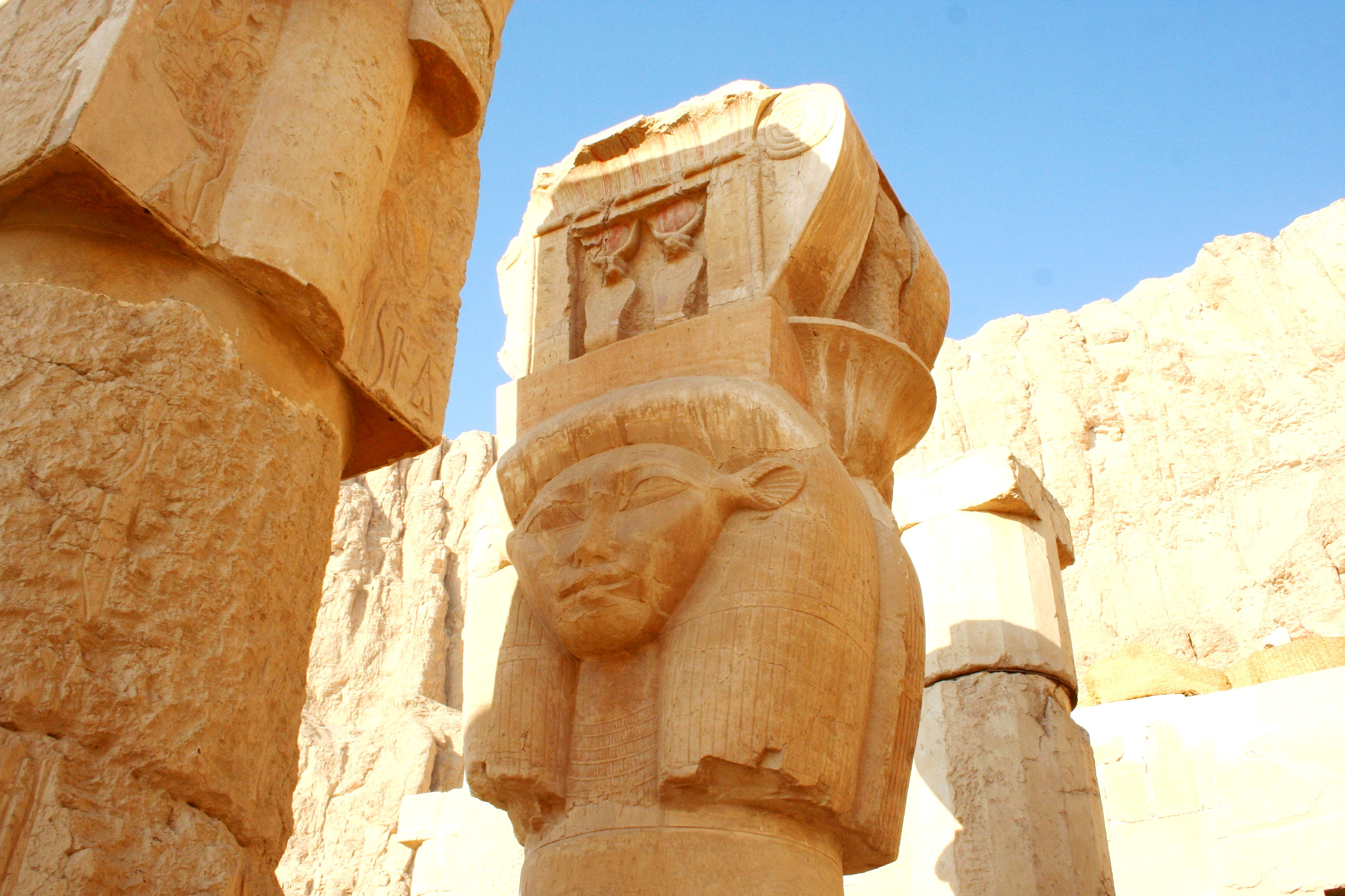 Hathor Column at Hatshepsut Temple