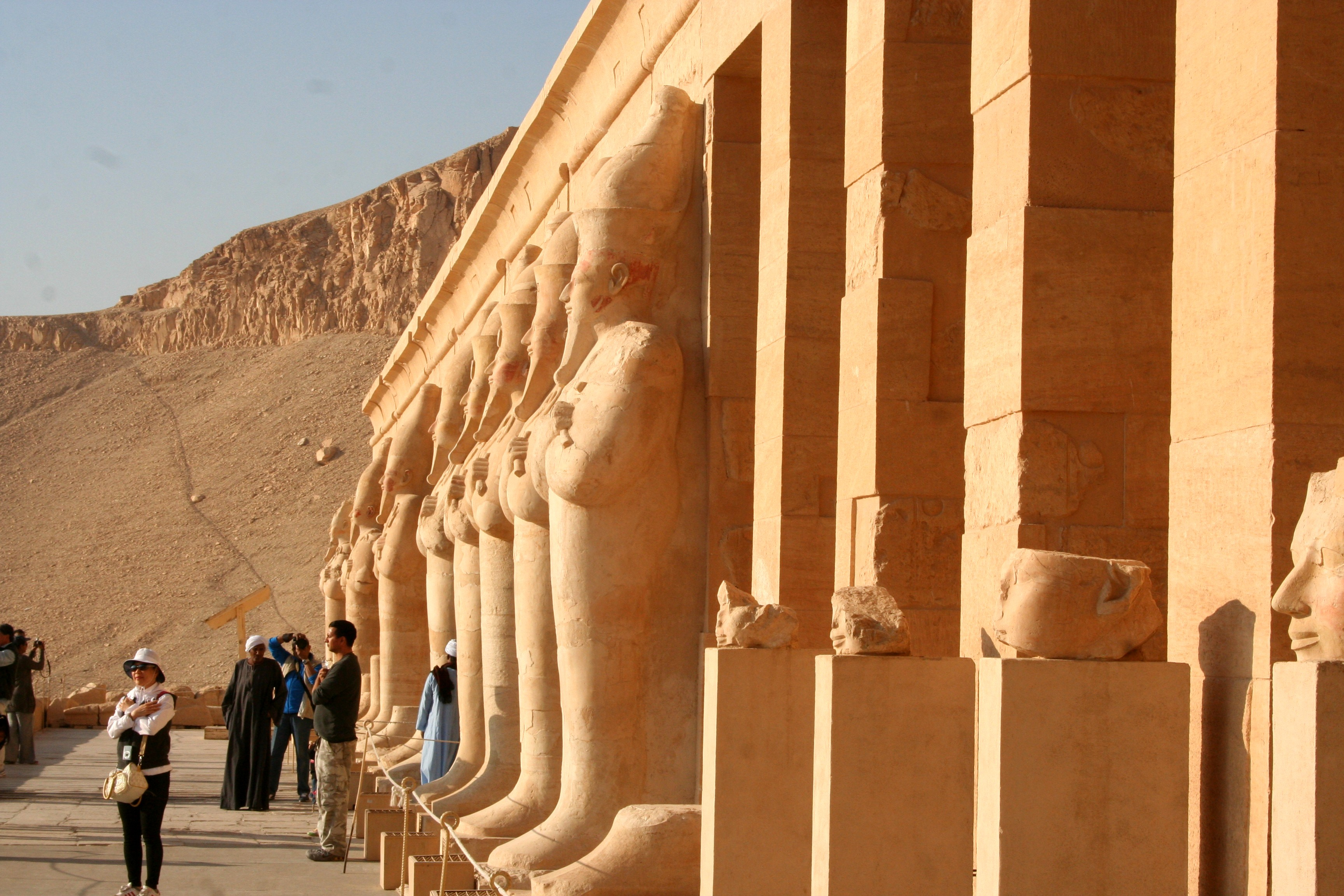 Upper Facade at Hatshepsut Temple