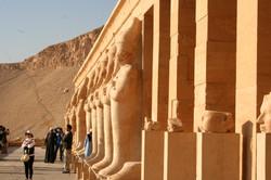 Upper Facade at Hatshepsut Temple