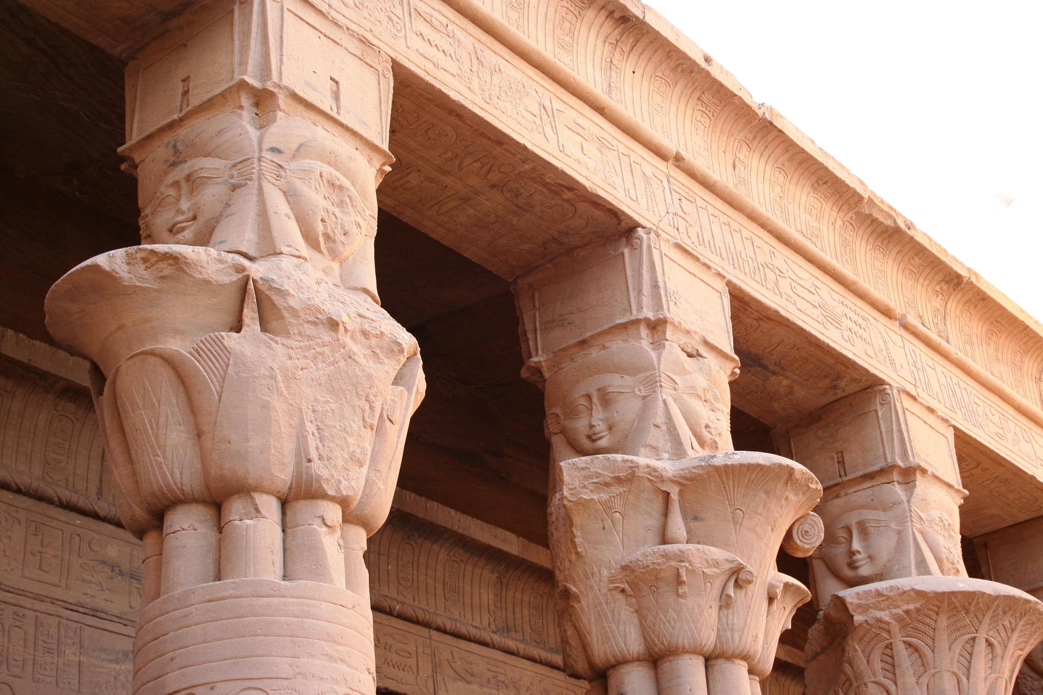 Hathor Columns at Philae