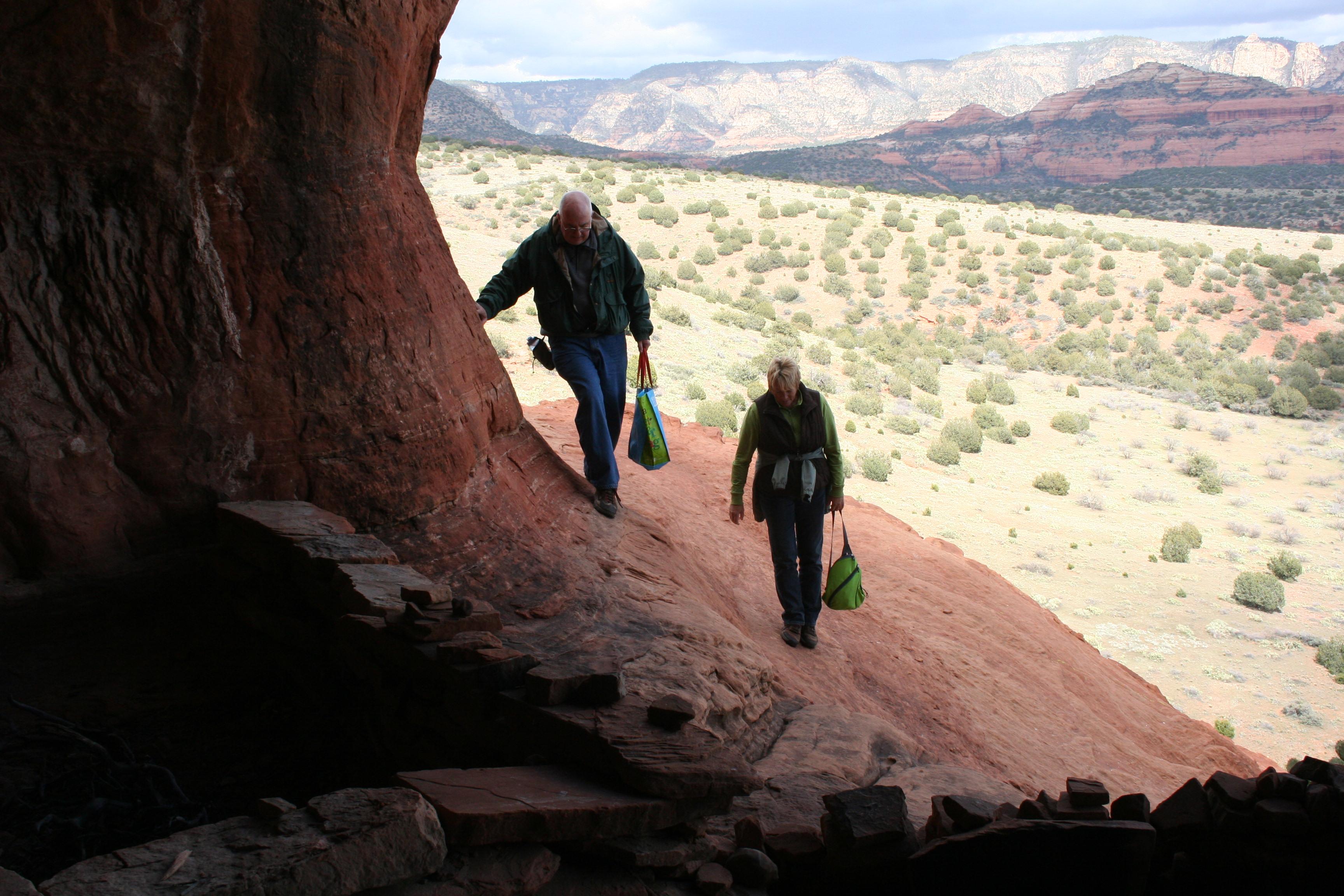 Walking to Shaman's Cave