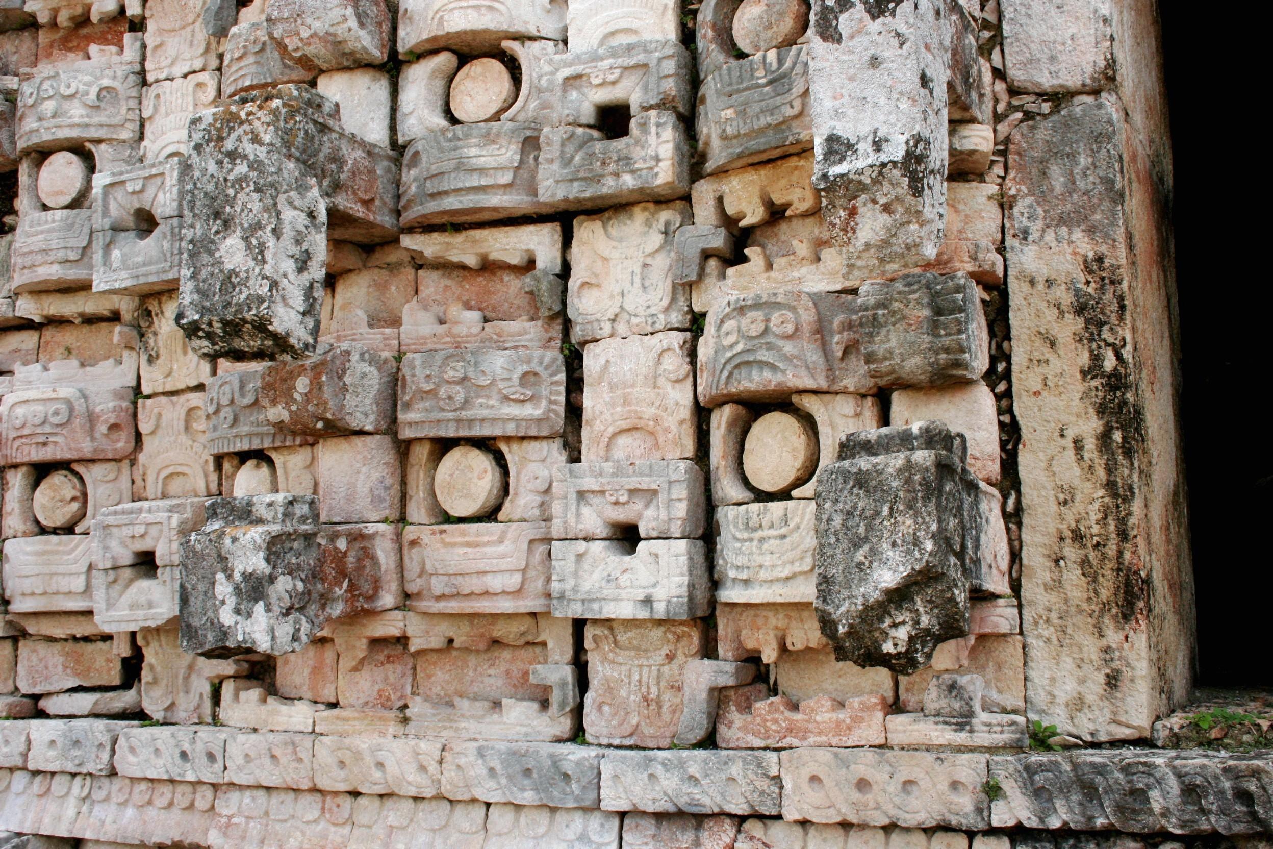 Mayan Building Facade